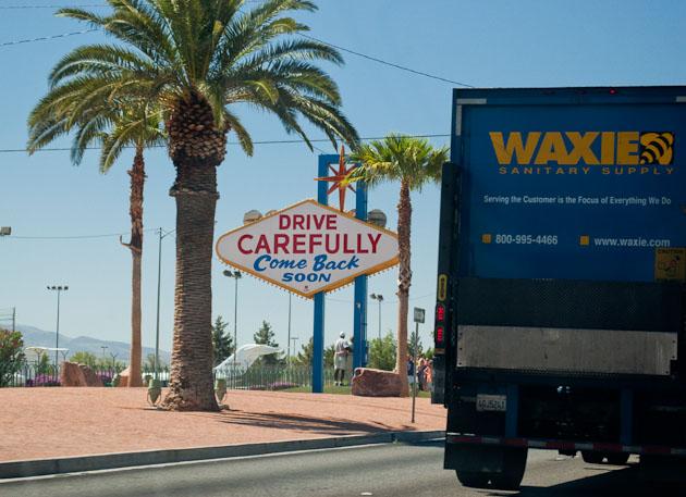 the back of the fabulous Las Vegas sign